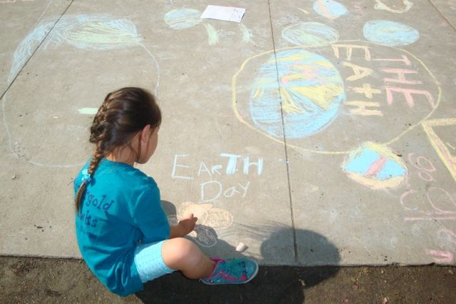 Penny Norris - kindergartener at Rivergold - Earth Day art work.