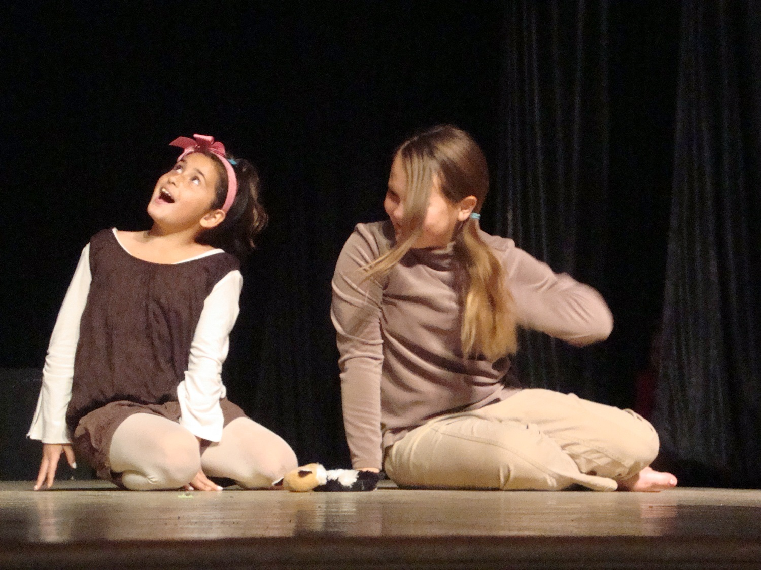 Rivergold students Mollie Villanueva and Hailey Keller are just two of the members of the Rivergold Young Actors Studio - courtesy of Rivergold