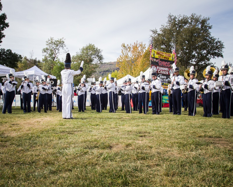 Badger Band performing in the park at Fall Festival - Photo by Virginia Lazar