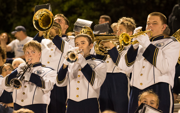 YHS Badger Band at first home game - 2014 - Photo by Steve Montalto HighMountain Images