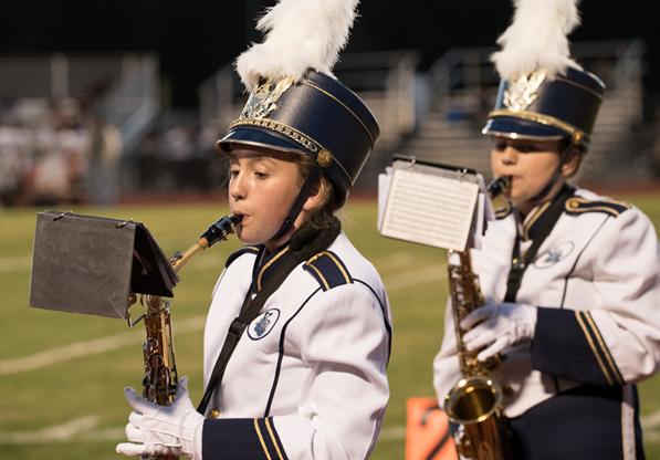 YHS Badger Band at first home game II - 2014 - Photo by Steve Montalto HighMountain Images