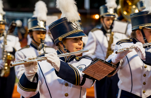 YHS Badger Band at first home game Calissa Crumpton - 2014 - Photo by Steve Montalto HighMountain Images