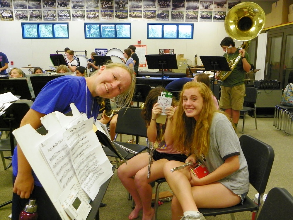 Students from Badger Band YHS Aug 2014 - photo by Clara Briley