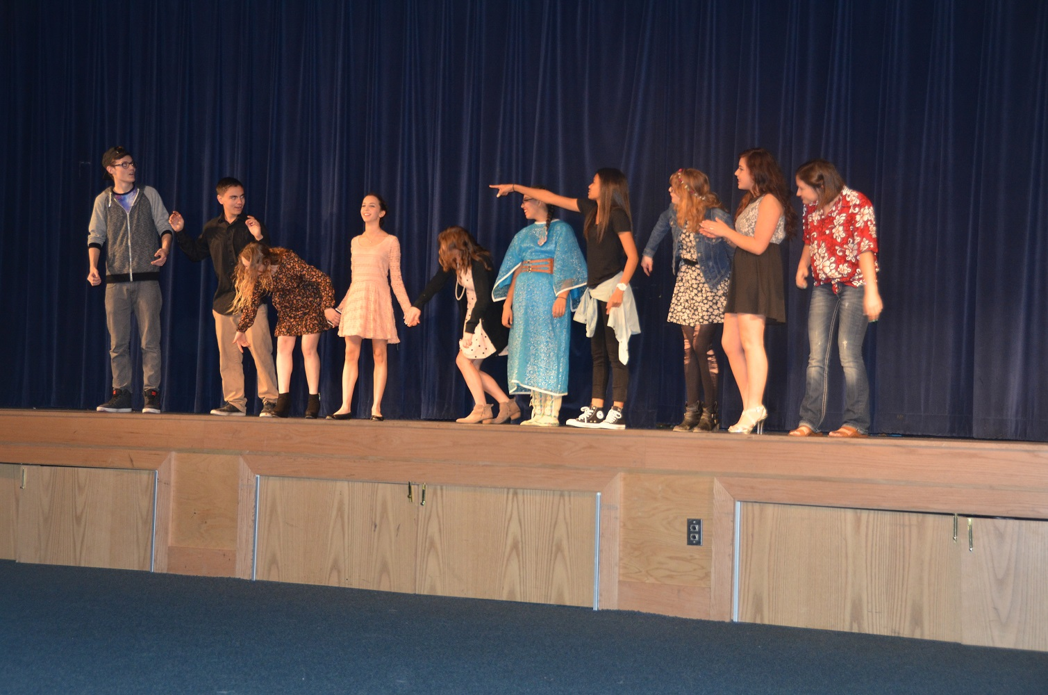 YHS Students take a bow at talent show on Feb. 2 2015 - photo by Jamie Longmore