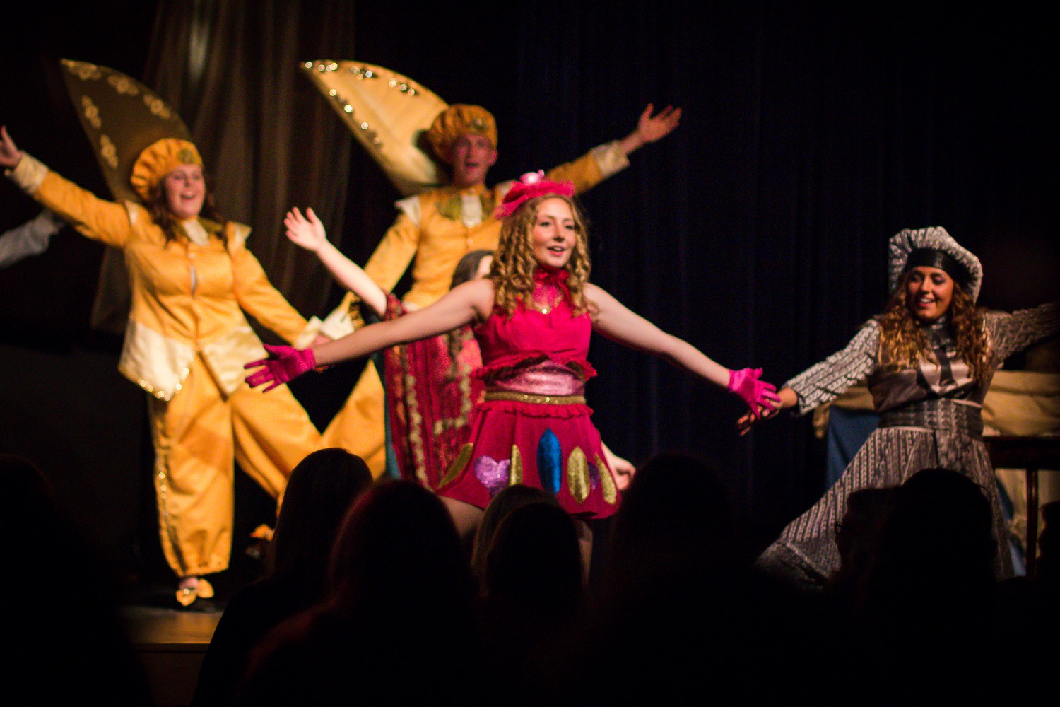 Beauty and the Beast - Katelyn Suderman and Malory Meiss - Yosemite High School Apr 26 2014 - photo by Virginia Lazar