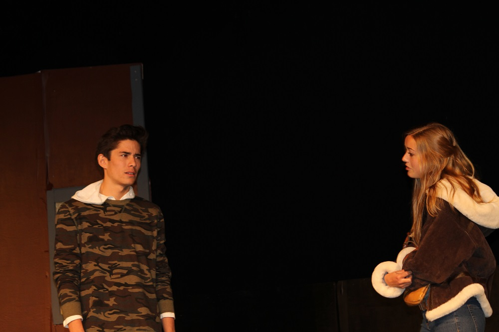 Dillon Masai and Hannah McMechan in Almost Maine at Yosemite High School 2013 - photo by Chandler Clarke