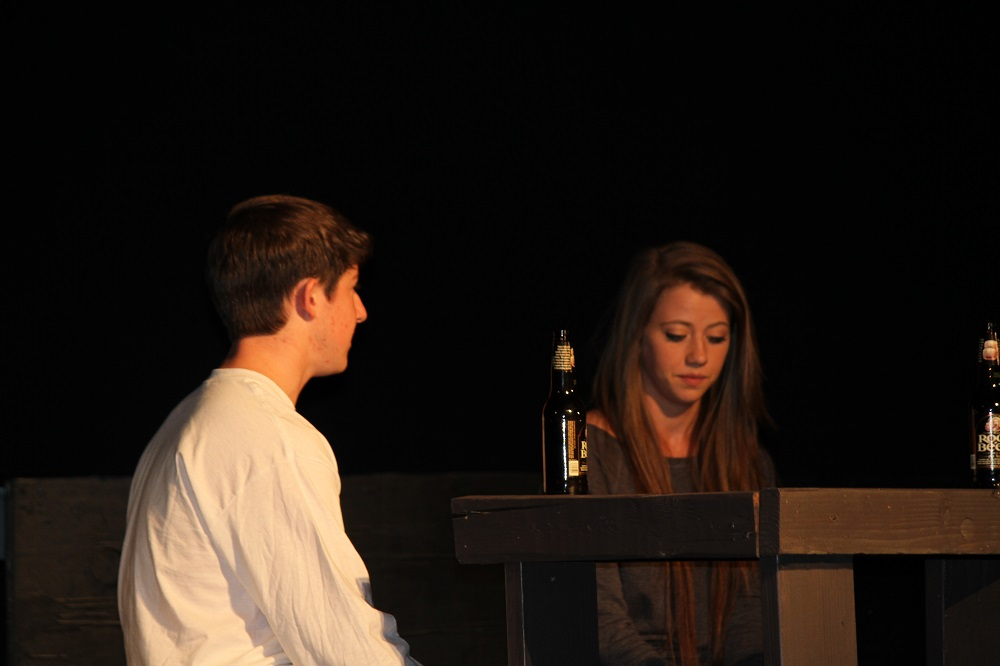 Jacob Caldwell and Shelby Pisel in Almost Maine at Yosemite High School 2013 - photo by Chandler Clarke