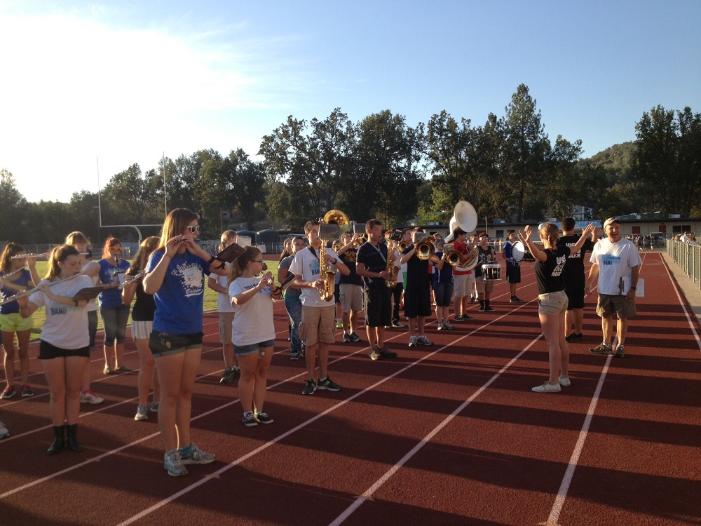 YHS Band playing at football scrimmage - August 2013 - Photo by Stacey Montalto