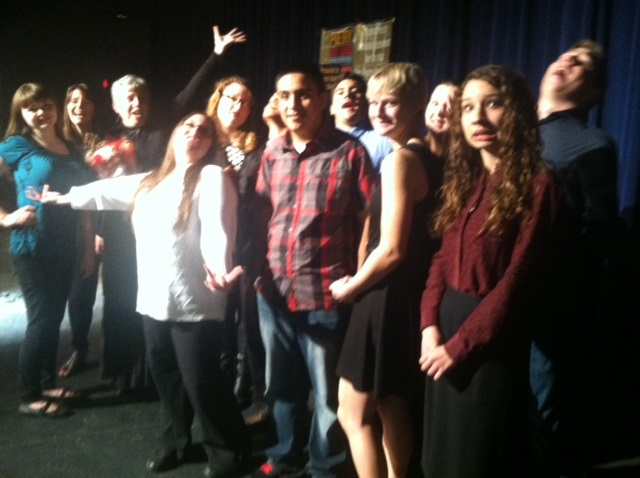 Poetry Out Loud students from Chowchilla, Glacier, Liberty, Minarets, and Yosemite High