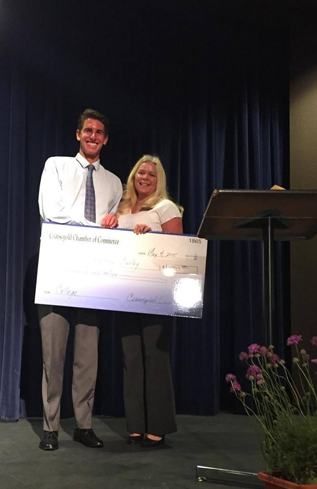 Community Awards winners for Coarsegold Chamber of Commerce - YHS Class of 2015 Oliver Curley - photo courtesy of Coarsegold Chamber