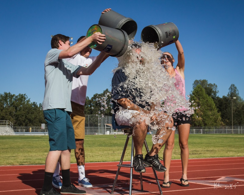 YHS Students douse Principal Seals with ice water on the first day of school - photo by Virginia Lazar 2014