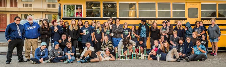 YHS Badger Band takes home trophies from the Orange Cove competition Nov 2014 photo by Steve Montato