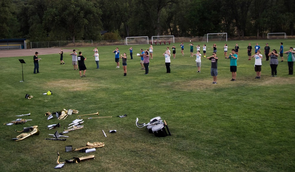 YHS Band Camp practices on field 2013 - Photo by Steve Montalto