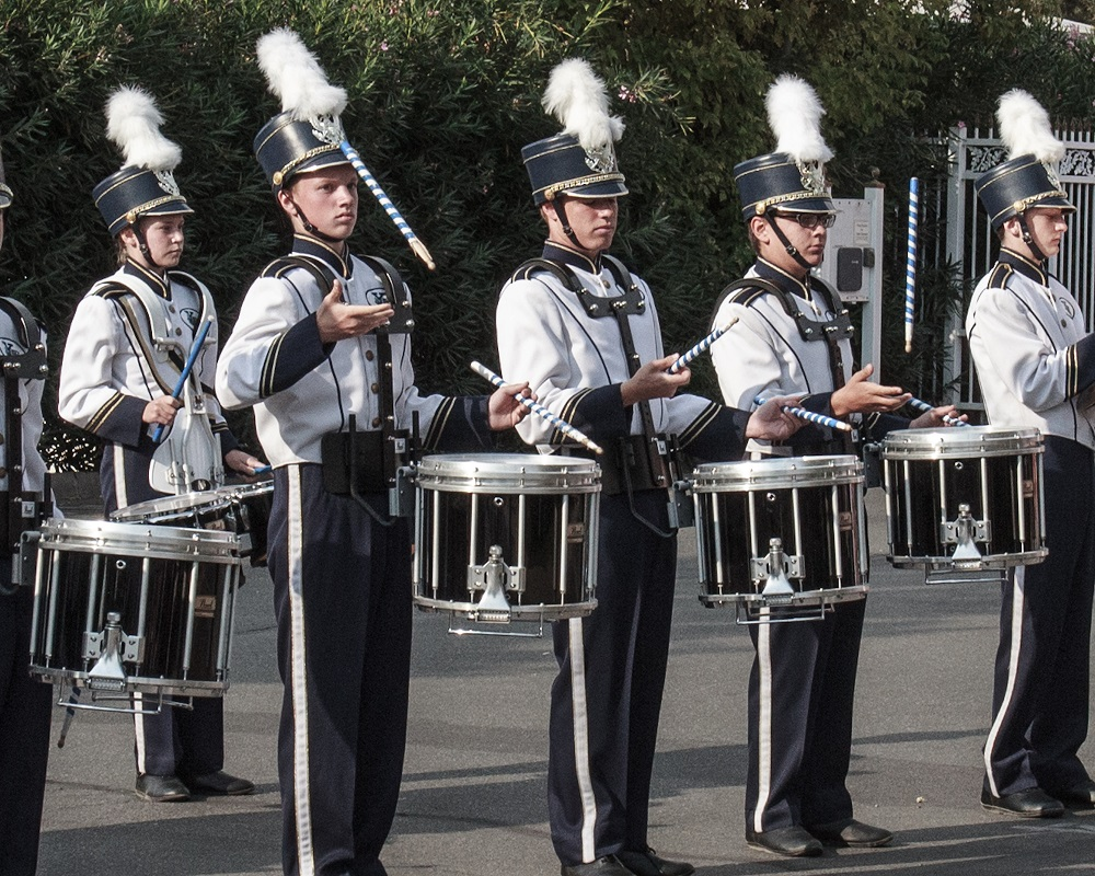 YHS Band performs at Sept 11 Patriots Day event at Sierra Telephone