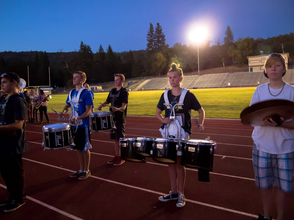 YHS Band practice for half time - Photo by Steve Montalto