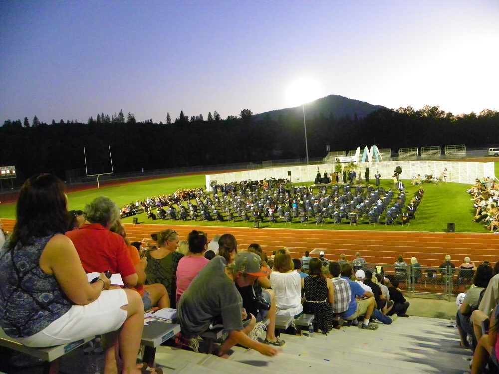YHS Graduation view from bleachers 2013 - Photo by Clara Briley