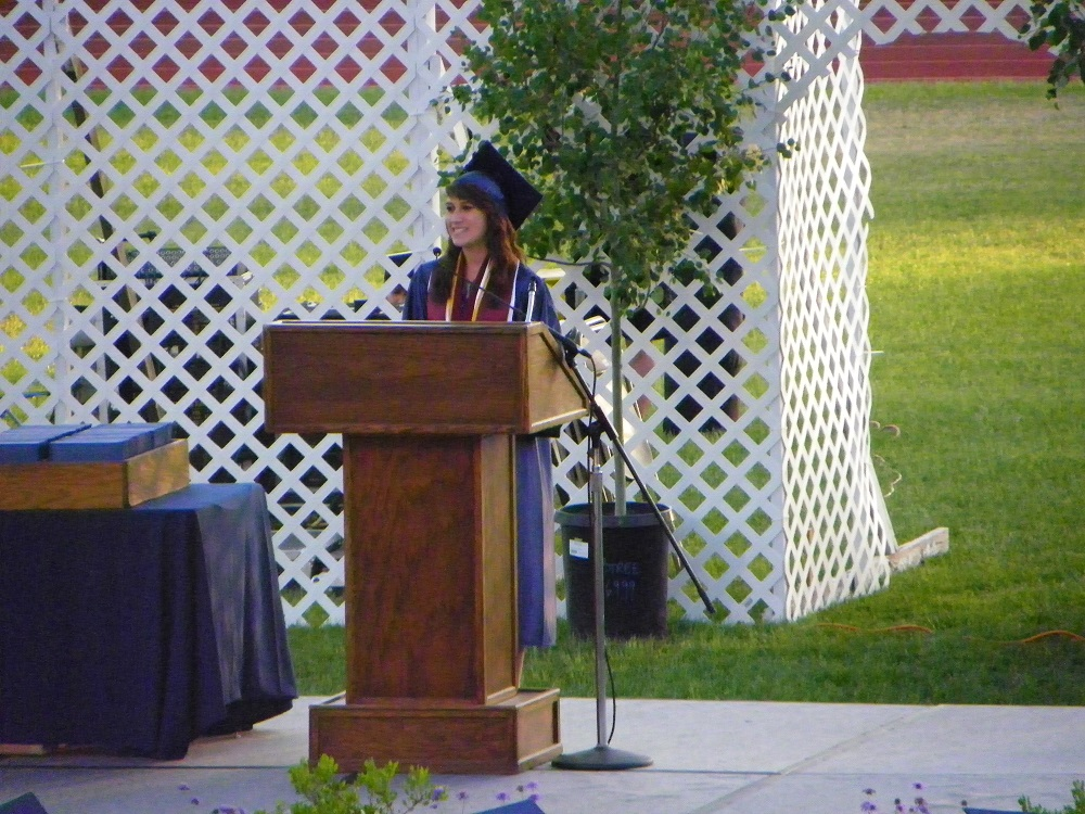 YHS Student Angelica Smith at graduation 2013 - Photo by Clara Briley