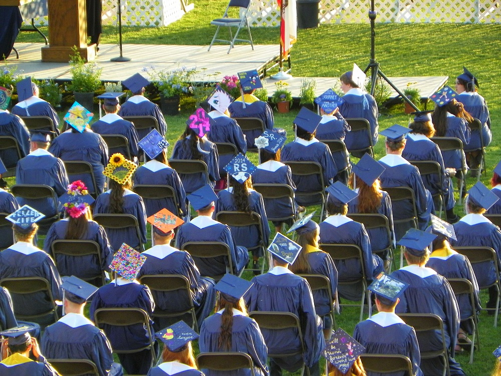 Grads seated at the YHS Graduation 2014 - photo by Clara Briley