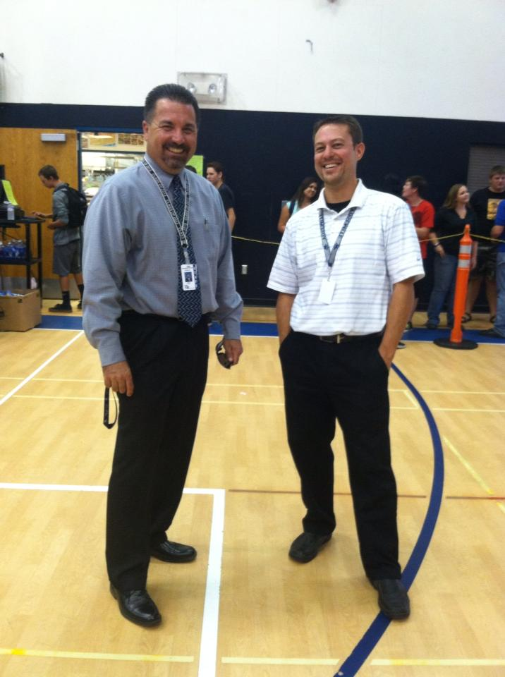 YHS Principal Randy Seals and counselor Greg Hill - 2013 - Photo by Clara Briley