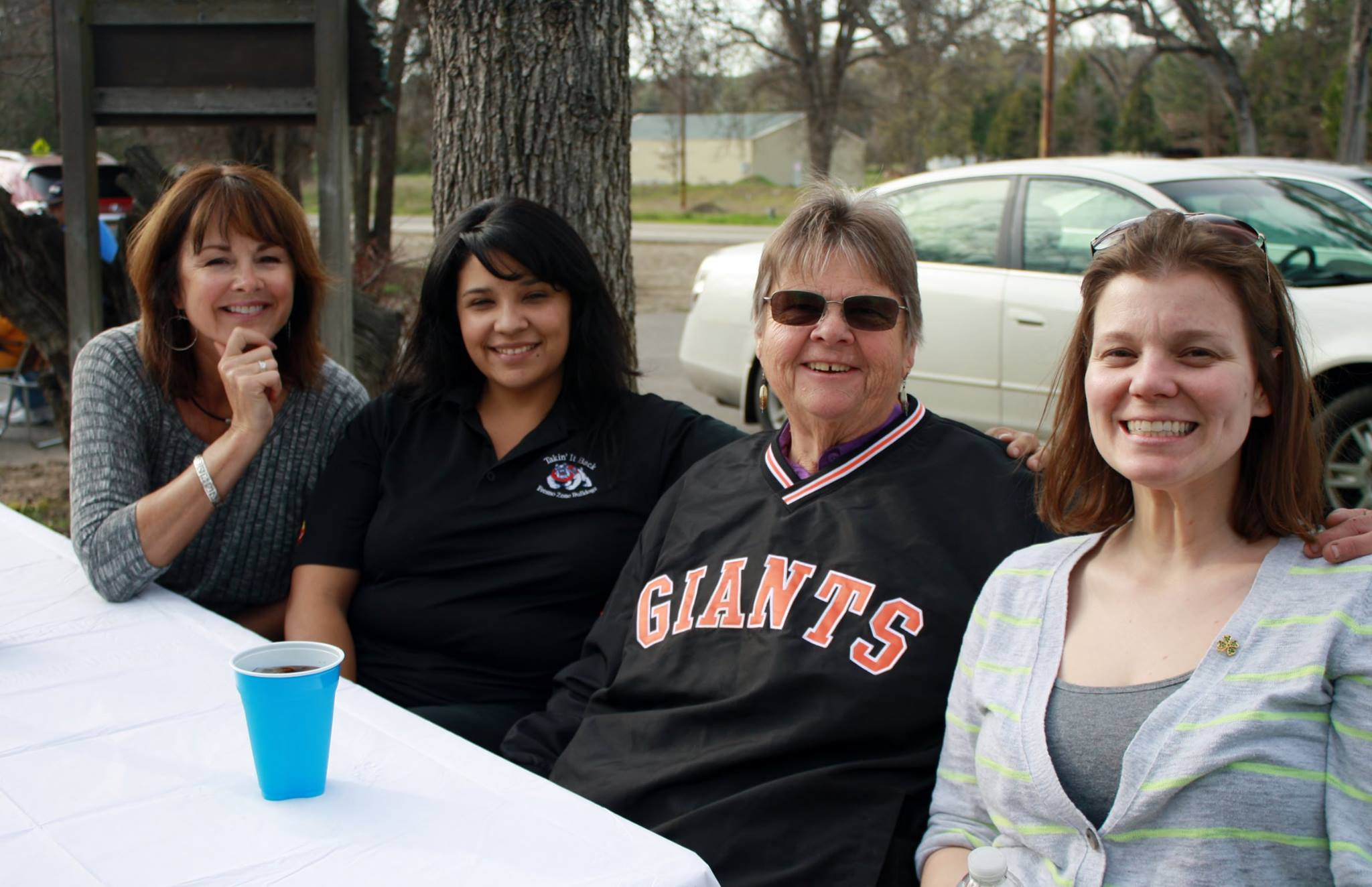 Educational Options YUSD students and staff including Dana Hall at Alternative Education BBQ