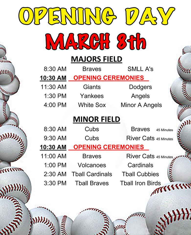 SMLL Opening Day 2014 Flier
