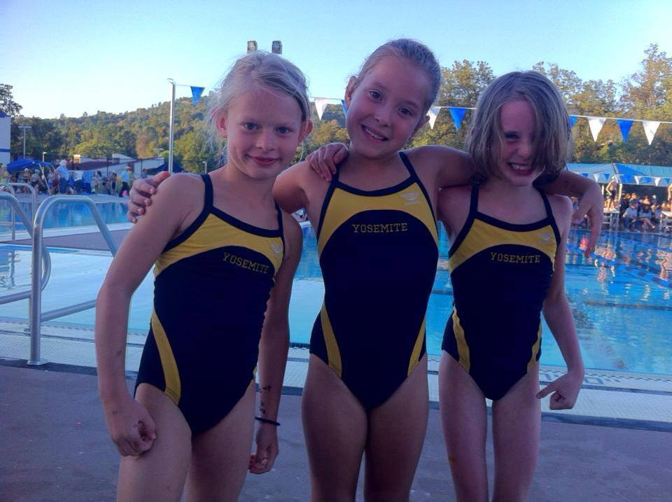 Yosemite Swim Club - some of the younger members - 2013 - Photo Courtesy YSC