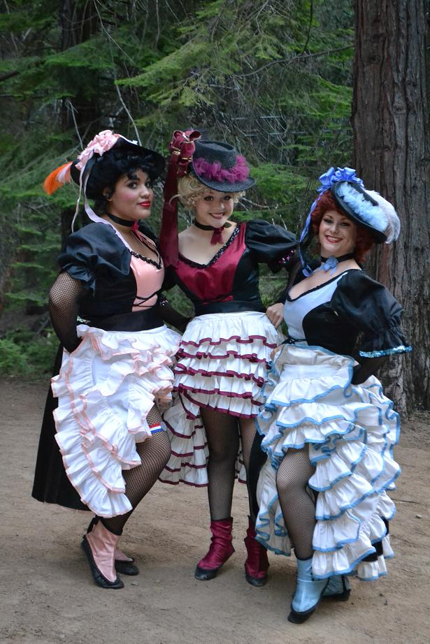 CanCan Girls at the RR melodrama 7-15-12