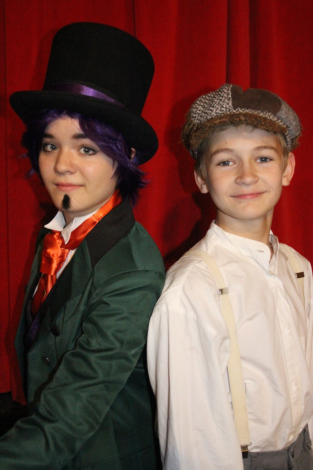 Golden Chain Theatre Willy Wonka the Musical 2014 - Lyric Piccolotti and Geep Cummings - photo courtesy of GCT