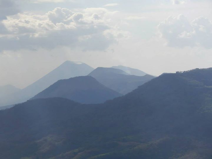 View of the taller volcanoes with smoke coming out - courtesy of Kelly Silva Fine