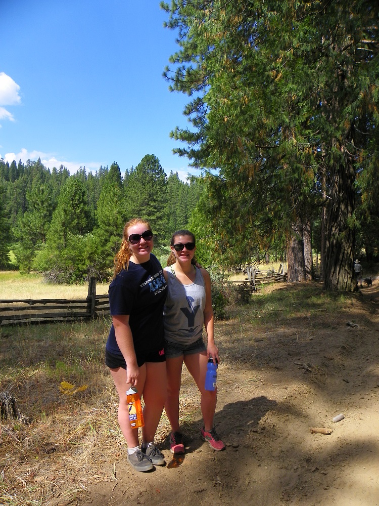 Meadow Loop in Yosemite - July 2014 - Clara and Allie on the trail - photo by Kellie Flanagan