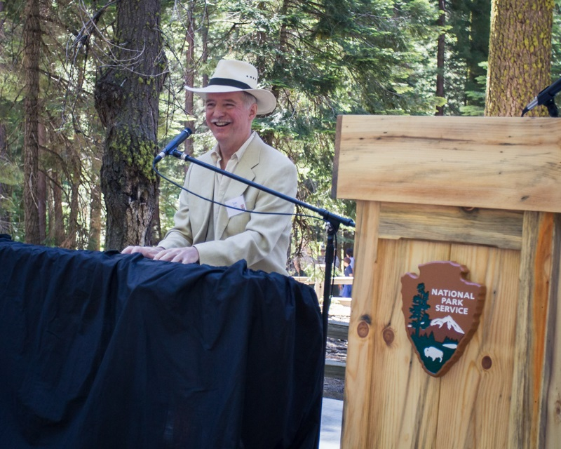 Yosemite Grant Act Anniversary 2014 - Pianist Tom Bopp entertains the crowd prior to the special celebration of Yosemite - photo credit Virginia Lazar