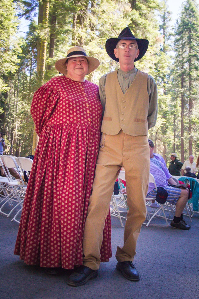 Yosemite Grant Act Anniversary 2014 - Recreating history from the period - Laurie and Keith Rogers of Concord - photo credit Virginia Lazar