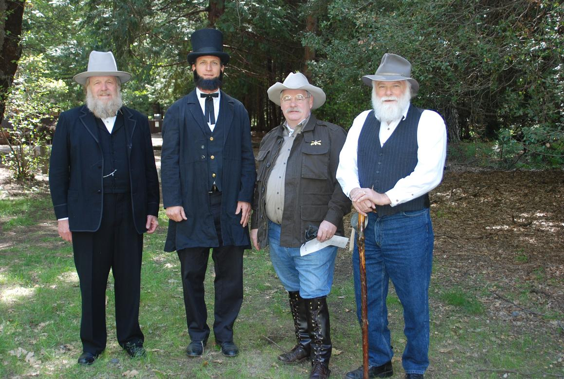 Miles Standish as Galen Clark - Gary Talley as Abe - Riley Walter as TR - Frank Helling as John Muir