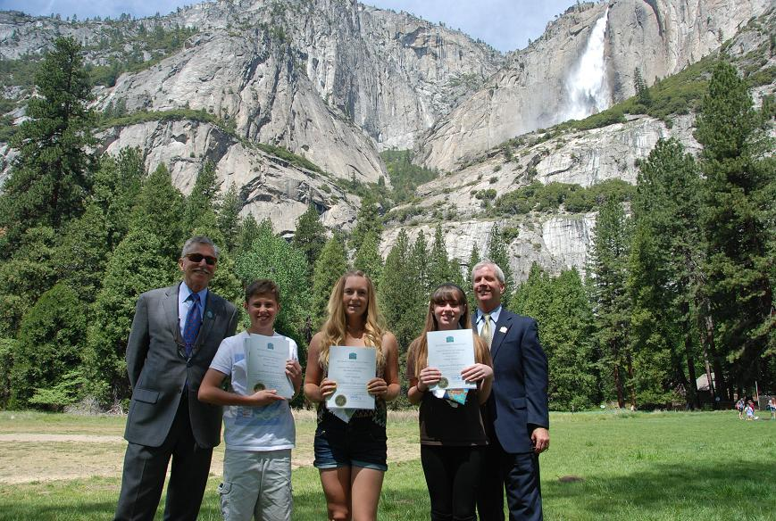 Prize winners at Yosemite Law Day