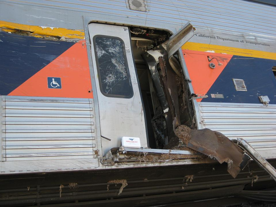 Amtrak Derailment - Door Where The Truck Hit 10-1-12