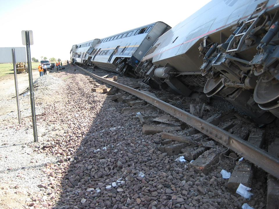 Amtrak Derailment Ties Ripped Up 10-1-12