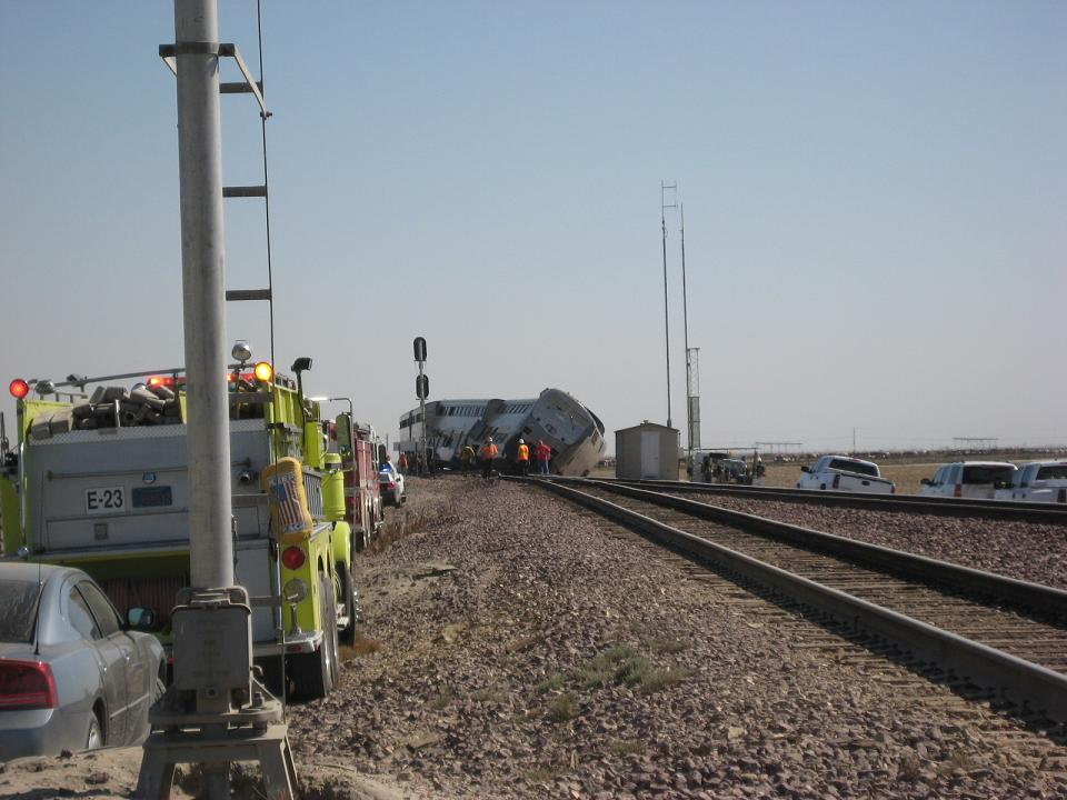 Amtrak Derailment and Fire Engines 10-1-12