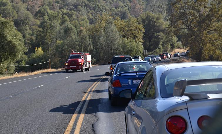 Highway 41 and Mecca Traffic Backup 10-30-12
