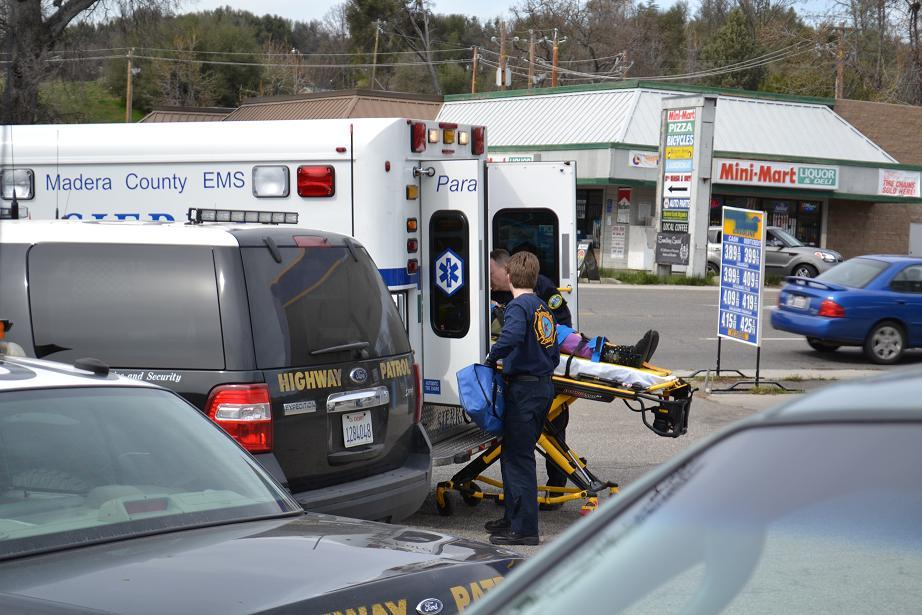 Loading patient into ambulance 3-18-13