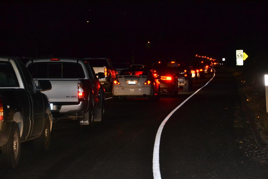 Traffic backup on Highway 41 from Road 200