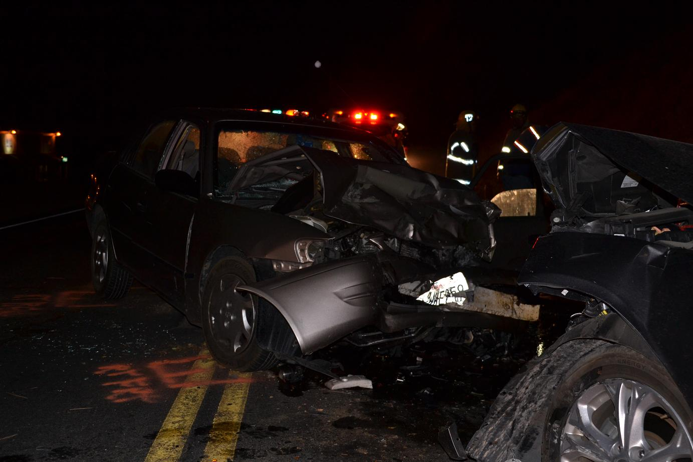 Toyota at fatal accident on Highway 41