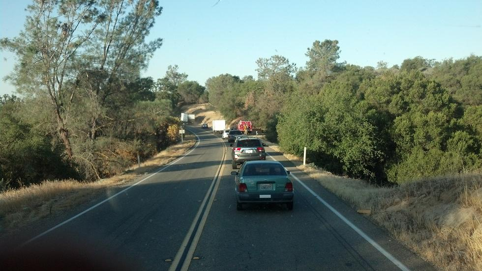 Traffic backup on Highway 41 7-6-13 - photo by Blaine Neely