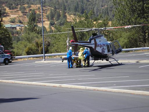 Motorcycle Accident 9-3-12 helicopter