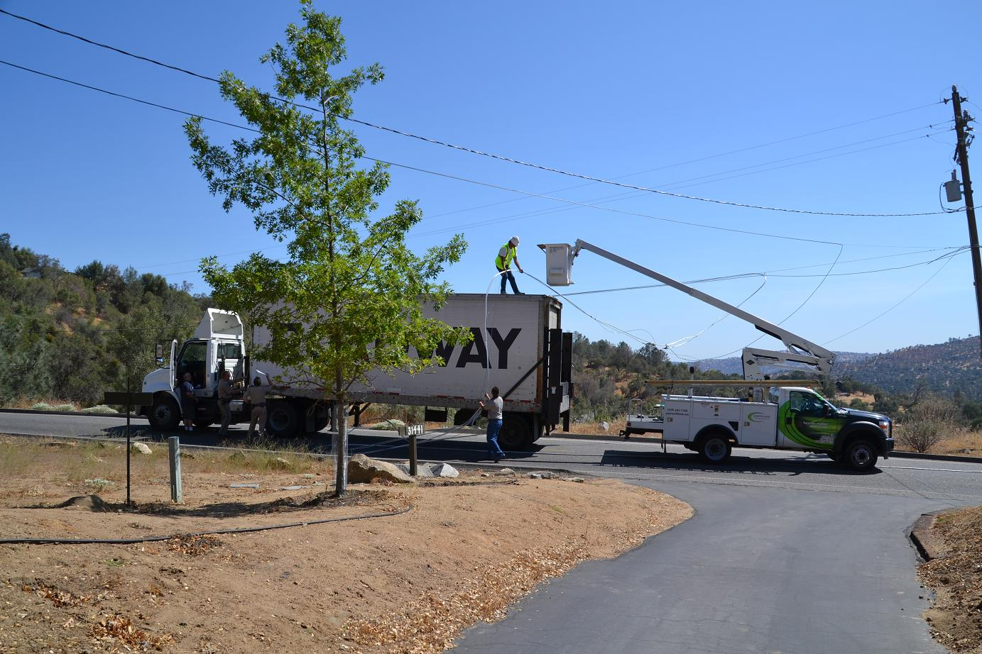 Northland Cable removes lines from truck