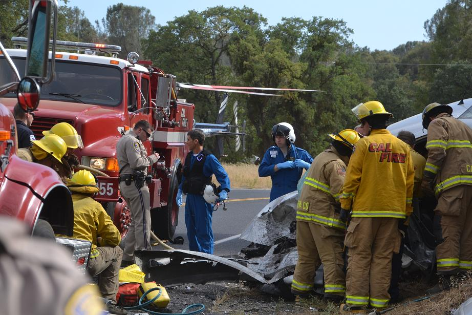 Engine and helicopter at fatal accident