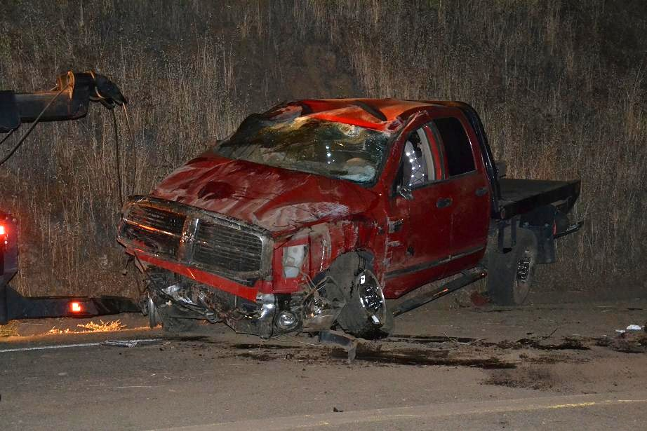 Dodge Ram after Bulldog Towing turned it over