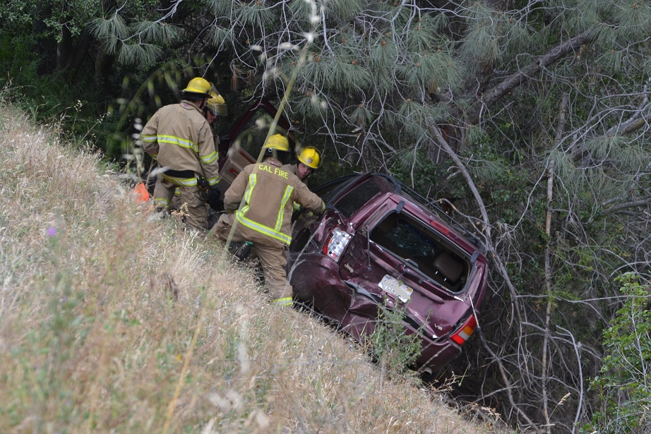 Firefighters extract driver from Jeep