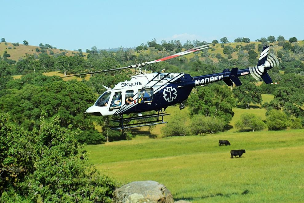 SkyLife Helicopter airlifts accident victim