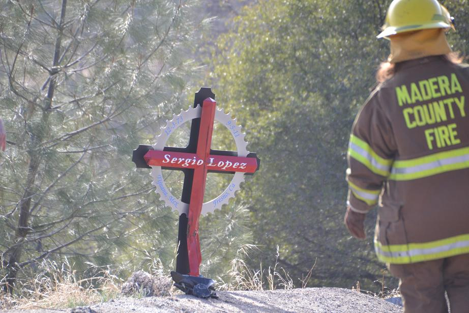 Marker from previous fatality on Road 222