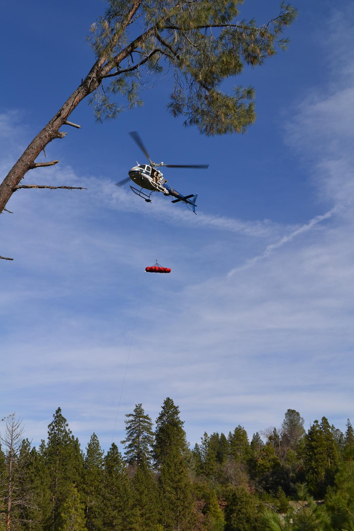 Helicopter Lifting Accident Victim - photo by Gina Clugston